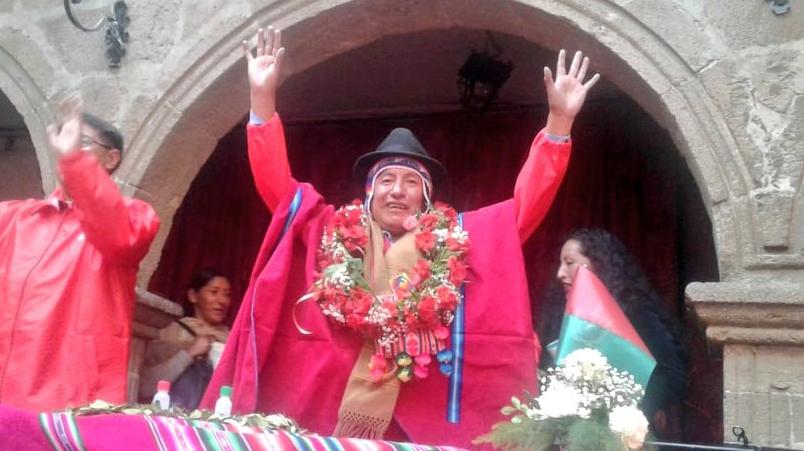 Tata Quispe va por la gobernación del departamento de La Paz