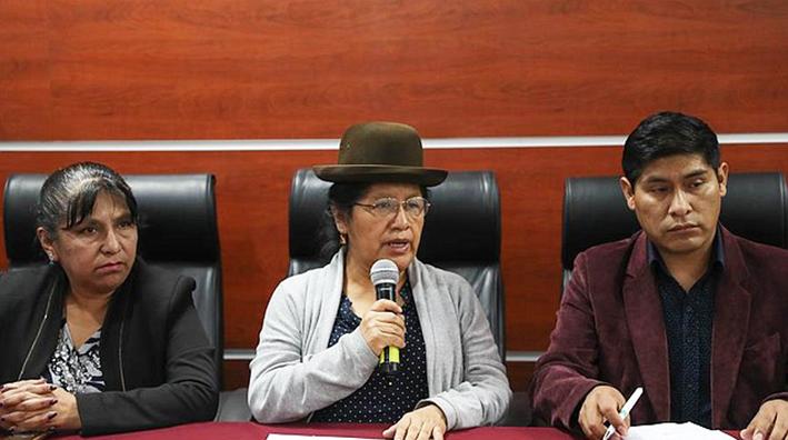 La presidenta de Tribunal Supremo Electoral María Eugenia Choque  instruyó interrupción del TREP