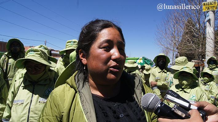 Maria Del carmen Zegarra secretaria general sindicato Trebol