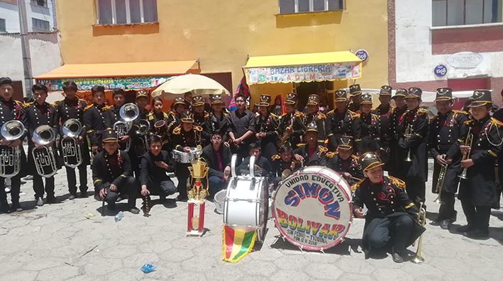 Banda de Guerra de San Pedro de Tiquina fue reconocida por sus logros destacado  en esta gestión